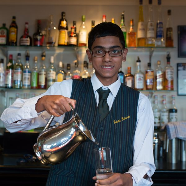 Student working in Hospitality