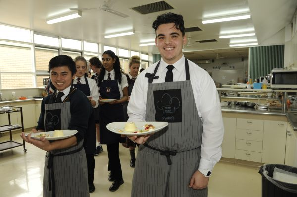 Students present their culinary works
